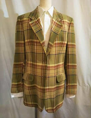 DAKS  Check silk jacket /Made In Great Britain [1929]