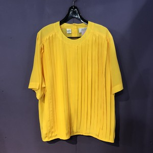 yellow front design blouse[B957]