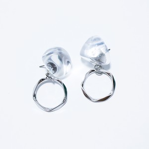silver×clearピアス/pentagong