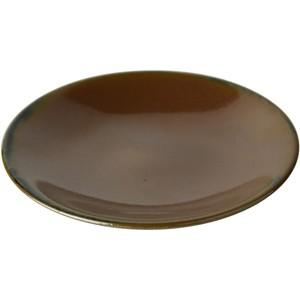 益子焼 つかもと窯 中皿 ブラウン 15.6cm ソーサー 伝統釉シリーズ 飴釉 KKS-1