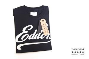 エディター|THE EDITOR|ロゴプリントTシャツ|M|ブラック