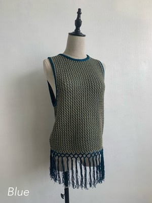 EARIH PLATING STITCH KNIT VEST