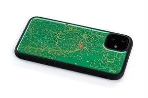 FLASH 東京回路線図 iPhone 11 ケース 緑【東京回路線図A5クリアファイルをプレゼント】