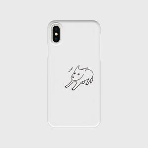 どんびき犬。IphoneX/XS 透明
