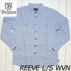 [クリックポスト対応] BRIXTON ブリクストン REEVE L/S WVN シャンブレーシャツ