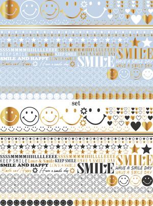 【SET】SMILE×SMILE /ポーセラーツ転写紙