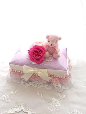 ラベンダー×ピンクのおむつケーキ