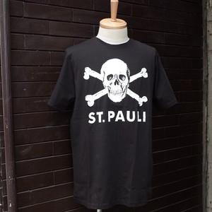"""FC ST.PAULI Official T-Shirt"" Skull Print Black / [FCザンクトパウリ] オフィシャル Tシャツ スカルプリント ブラック"