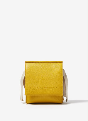 FAUX-LEATHER CROSSBODY BAG WITH FLAP
