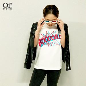 【飛び出す!?3DロゴTシャツ BOOOOA!】