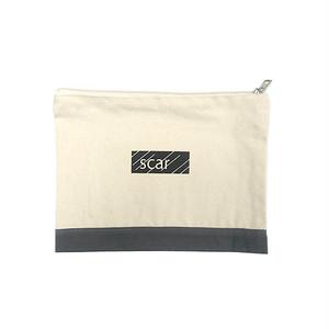 scar /////// BLACK BOX TOOL POUCH (Medium) (Natural / Grey)