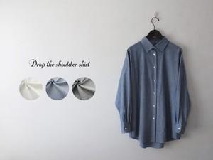 ドロップショルダーシャツ