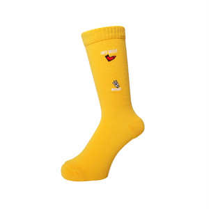 WHIMSY - HAND SIGN SOCKS (Yellow)