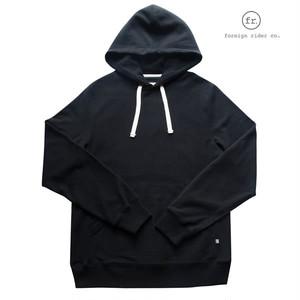 foreign rider(フォーリンライダー)hooded pullover/プルオーバースウェットパーカー/カラー:BLACK【frblkhpl-black】