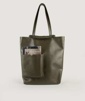 PAZAR BOOK TOTE BAG_OLIVE GREEN