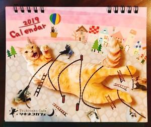 2019 ツキネコ卓上カレンダー