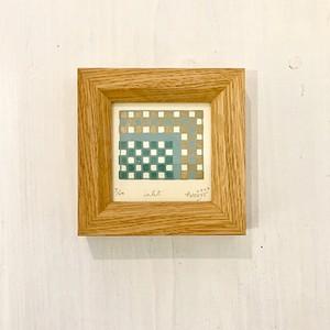 竹崎勝代「入江」TAKEZAKI Katsuyo/woodcut print 'inlet'