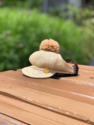 【ガーデン オブ エデン】麦わらキャスケット/ color:ナチュラル Sサイズ / Mサイズ 【日本製で帽子職人が手仕事で仕上げています】