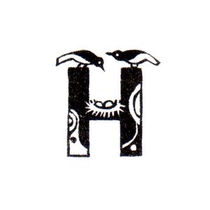 トリファベット H Bird Alphabet H