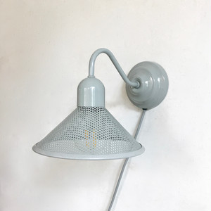 Punching Metal Shade Wall Lamp / L.GRY 80's オランダ