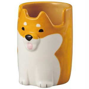 【柴犬】メガネ&ペンカップ【眼鏡入 ペン立て 犬雑貨】