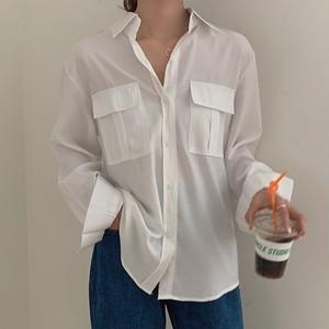 【アウター】カジュアル シンプル POLOネック シングルブレスト シャツジャケット42940668