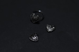 【各1点】vintage style heart ring
