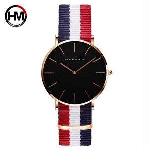 シンプルジャパンクォーツムーブメントウォッチレザーストラップナイロン時計女性アナログ防水腕時計CH36-F4