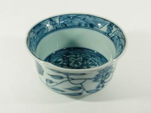 波地紋草花紋小鉢