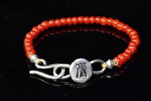 Luck thunderbird white hearts bracelet