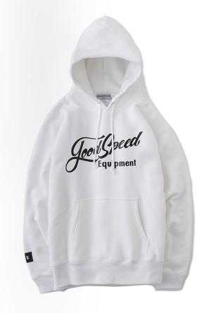 GOODSPEED equipment EVILACT(イーブルアクト) Lettering Logo Pullover Hooded Sweatshirt(white)