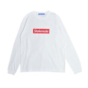【STALEMATE】BOX LOGO L/S TEE(WHITE)