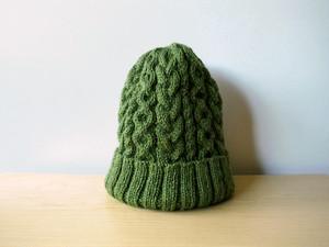 アランニット帽・グリーン●受注生産●