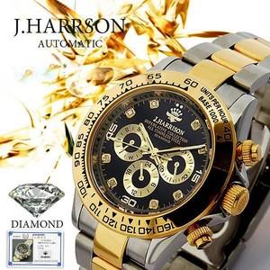 【J.HARRISON】JH-014DG 鑑別書付8P天然ダイヤモンド ゴールドブラック