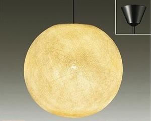 自然素材(綿糸)カバーの和風ペンダントライト大糸月【天井吊り照明】