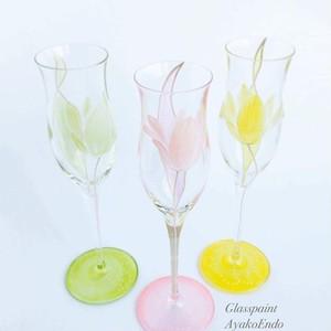【チューリップ】春の花シャンパングラス1個/結婚祝いプ・サプライズ・両親へのプレゼント・父の日ギフト・誕生日プレゼント
