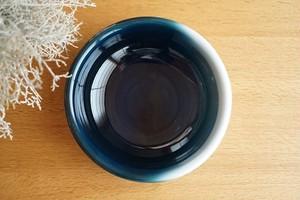 砥部焼/玉縁平鉢(中)/内青/ヨシュア工房