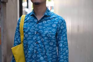 テーラード シャツ<7分丈 パン柄>