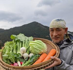 旬の高原野菜セット【Sサイズ】お野菜5~6種類 大和高原の恵み♪(有機野菜・農薬不使用・減農薬)