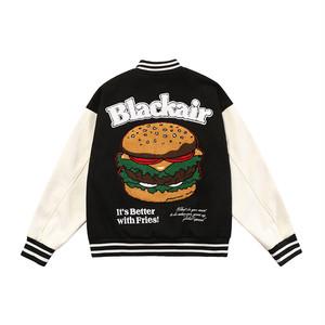 【SELECT】ハンバーガー刺繍ワッペンスタジャン