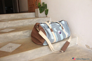 FEDE Blue Brushed Duffle Bag