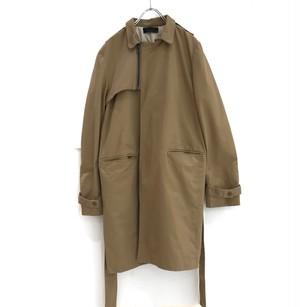 keisuke yoneda zip-up trench coat  beige