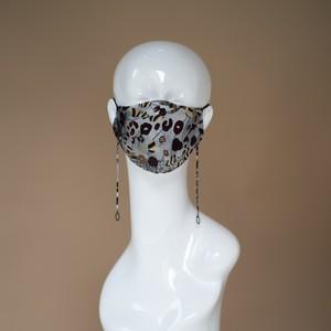 NEW!! マスク Leopard Khaki print x Black Pearl