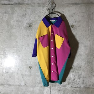 [used] colourful faces designed shirt
