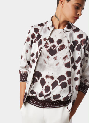 BOMBER WITH SIGNATURE SNAKE PRINT