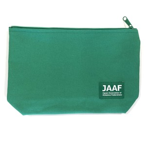 JAAF マチ付きポーチ(緑)