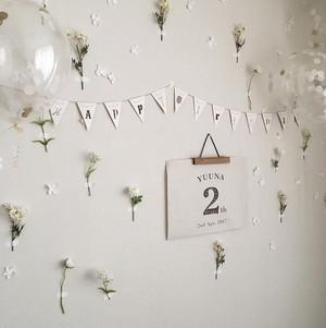 【 order 】Birthday ポスター { A3 } & ガーランドset