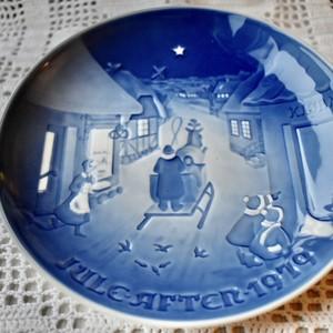 北欧クリスマス ROYAL COPENHAGEN ロイヤルコペンハーゲン 絵皿 プレート 1979年 絵皿 【EX1911-D32】