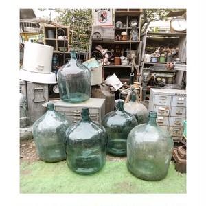 デミジョンボトル ガラス 花瓶置物 インテリア古道具 レトロアンティーク