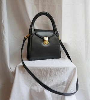 Italy Leather 2-Way Bag -Dead Stock!-